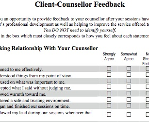 Client Feedback Forms: Feedback and Listening to Clients